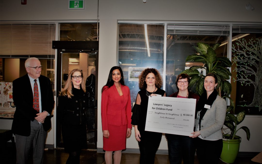 Lawyers' Legacy for Children Fund donates $40,000 to the Hamilton Community Food Centre