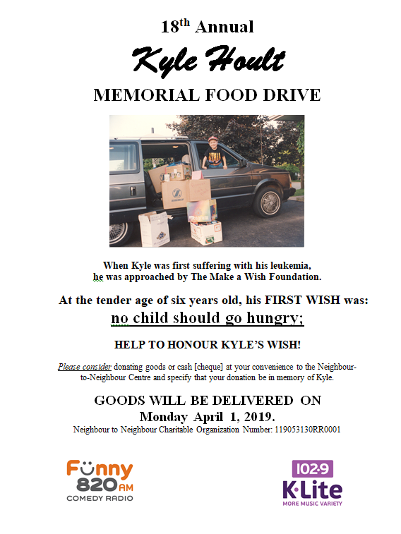 18th Annual Kyle Hoult Memorial Food Drive