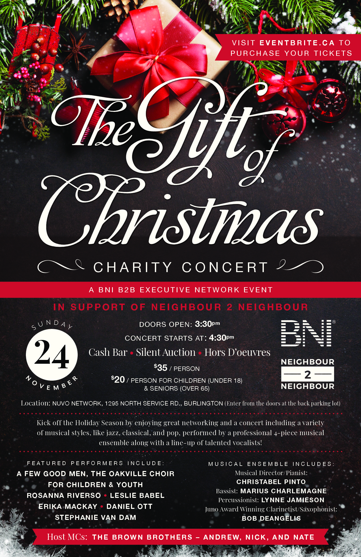 The Gift of Christmas Charity Concert – A BNI B2BExecutive Network Event