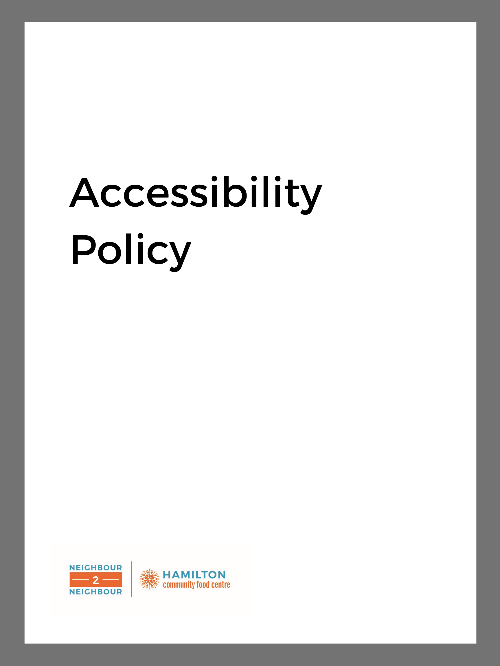 image of: Accessibility Policy