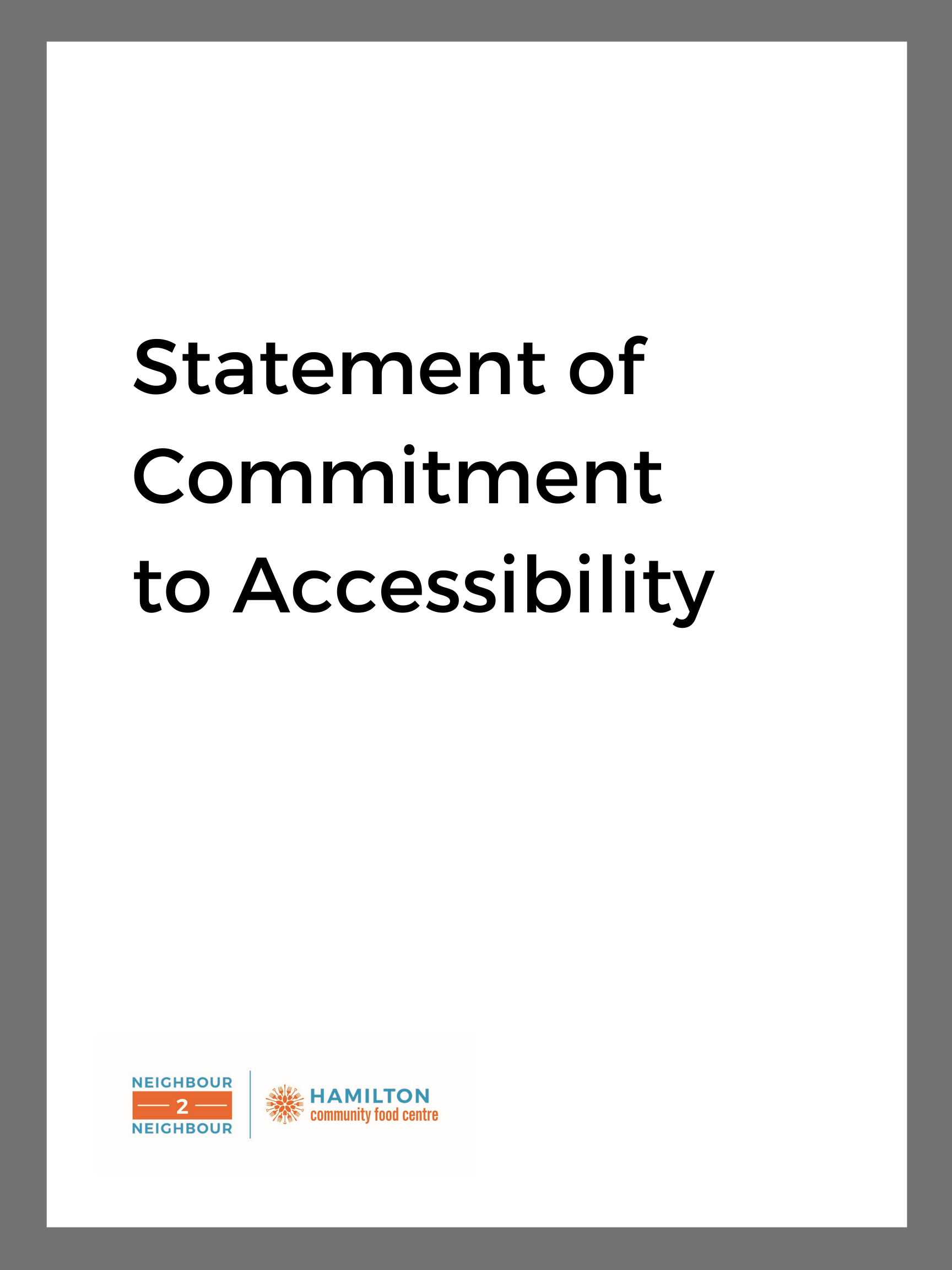 document image: statement of Commitment to Accessibility
